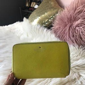 Kate Spade yellow wallet
